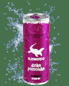 Komodo energy drink dzika poziomka